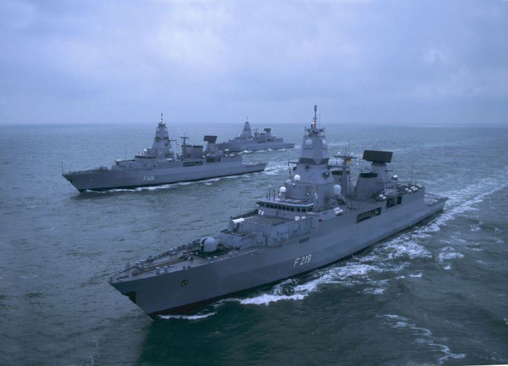 German Navy German Navy Frigates quotSachsenquot quotHamburgquot and quotHessenquot World Naval
