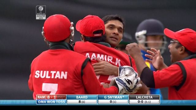 Gerrie Snyman Wicket NAM vs OMA Videos ICC Cricket World Cup 2015