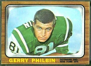 Gerry Philbin Gerry Philbin 1966 Topps 98 Vintage Football Card Gallery