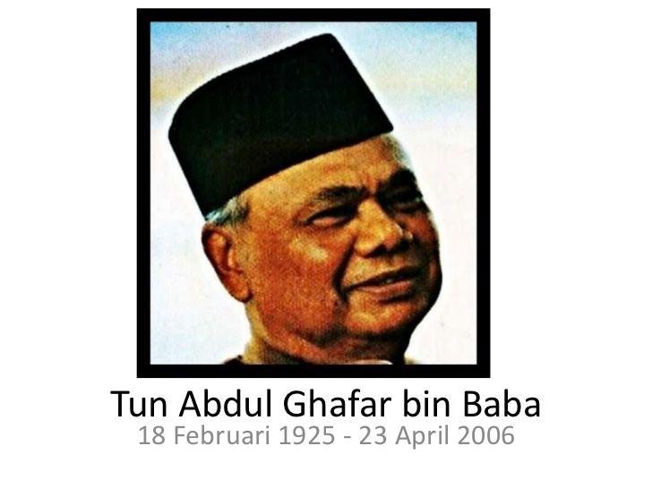 Ghafar Baba Tun Abdul Ghafar bin Baba
