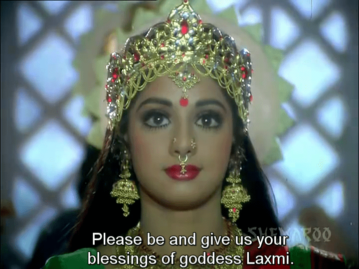 Ghair Khanooni movie scenes Gair Kanooni Sri Devi as Laxmi