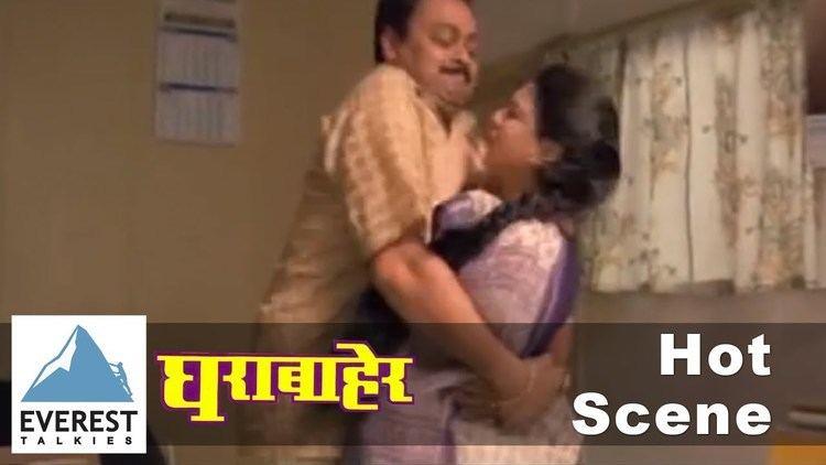 Gharabaher movie scenes Hot Scene Ghara Baher Marathi Movie Sonali Kulkarni Sachin Khedekar HTML5 Video