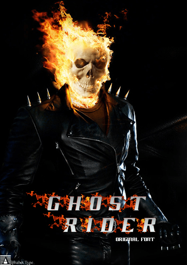 Ghost Rider (film) Ghost Rider Movie Font 1001 Free Fonts
