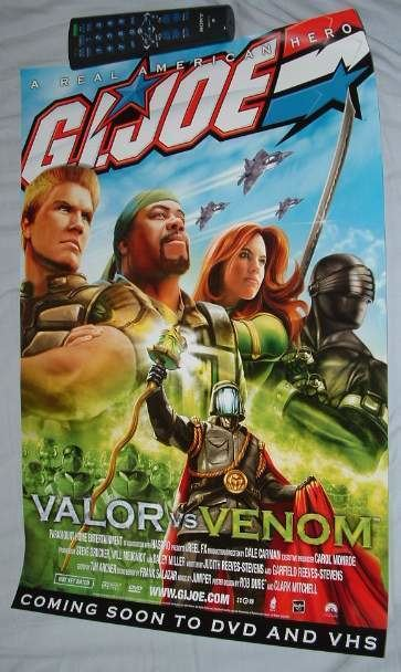 G.I. Joe: Valor vs. Venom YOJOECOM GIJoe Valor vs Venom The Movie Promotional Poster