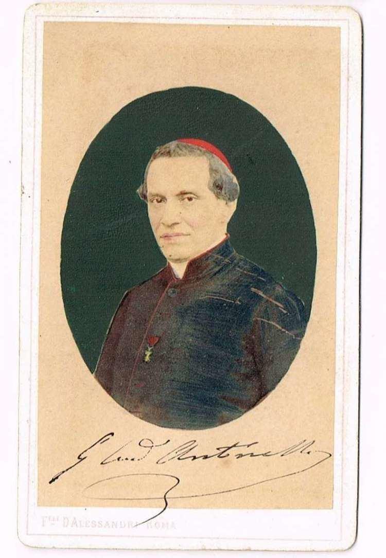 Giacomo Antonelli Cardinal Giacomo Antonelli Secretary of State Papal Artifacts