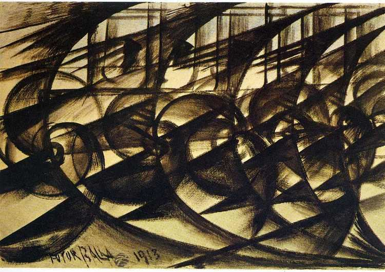 Giacomo Balla Speeding Car study Abstract Speed Giacomo Balla