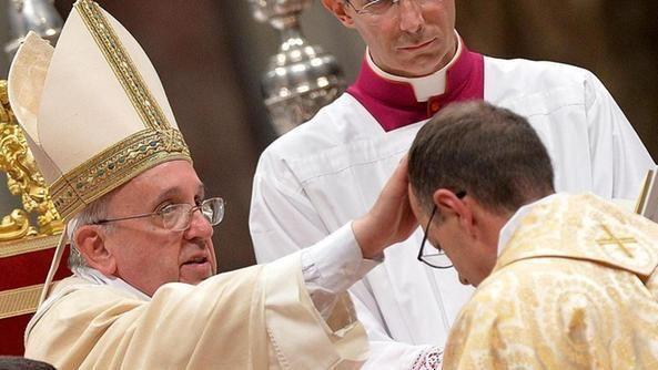 Giampiero Gloder, con el Papa