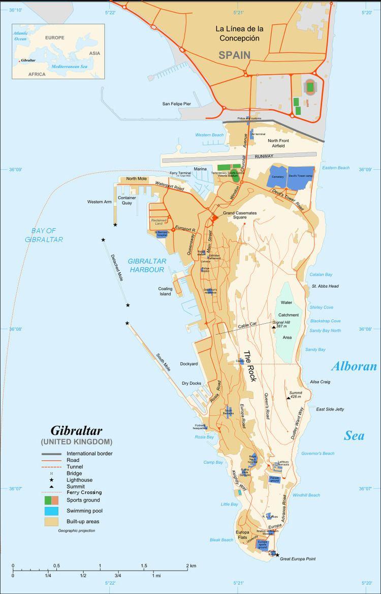 Gibraltar South Mole Lighthouse