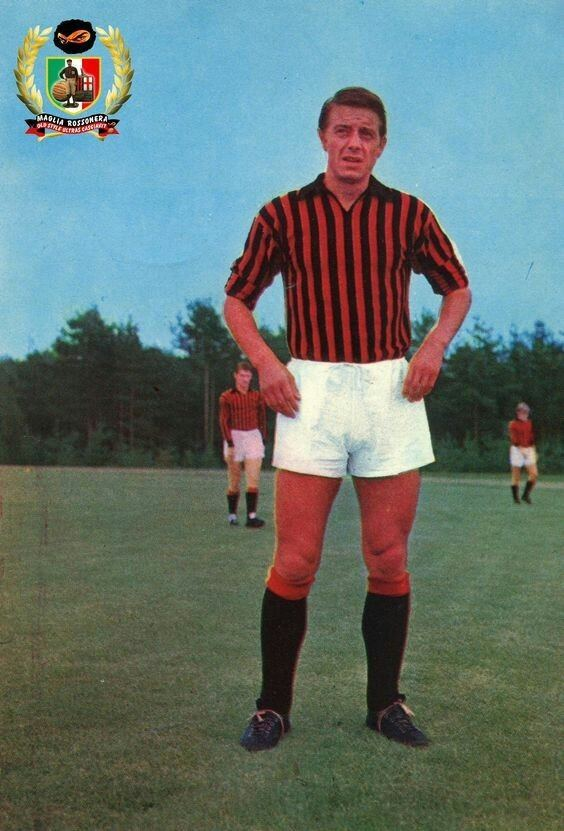 Gilberto Noletti Gilberto Noletti of AC Milan in 1966 1960s Football Pinterest