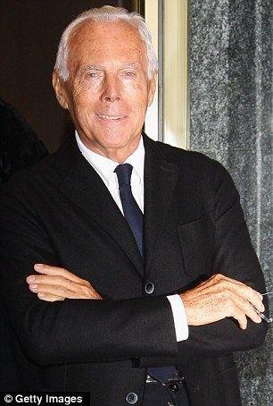 Giorgio Armani Its tough being me Billionaire Italian designer Giorgio Armani