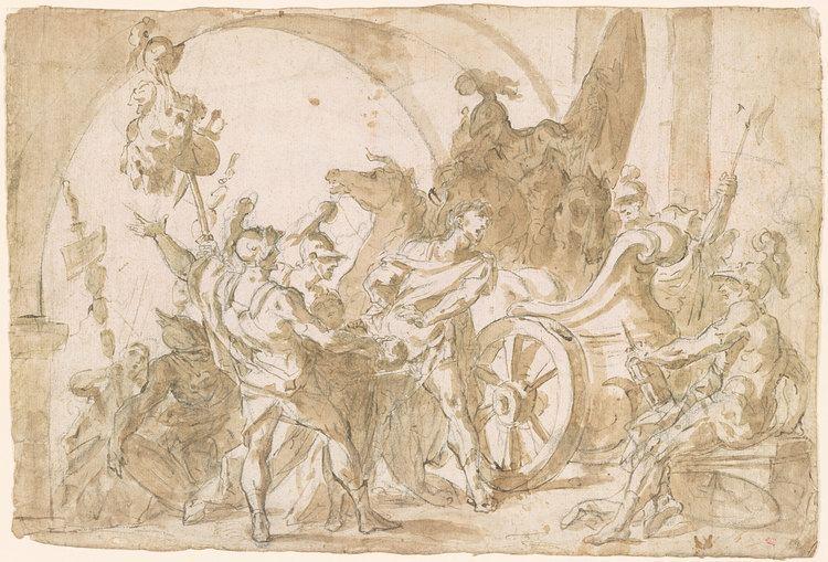 Giovanni Battista Marcola Giovanni Battista Marcola Head of Pompey Brought to Caesar Verso