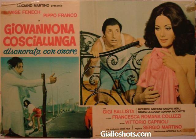 Giovannona Long-Thigh Edwige Fenech Giallo Shots