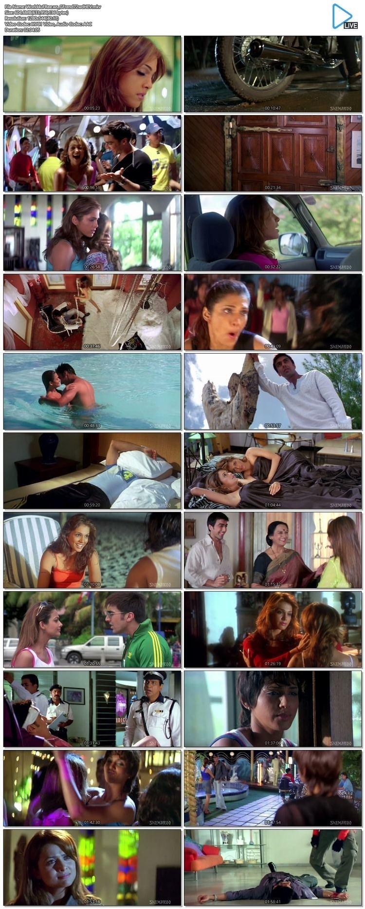 Girlfriend 2004 Hindi 720P BRRip 600mb HEVC x265