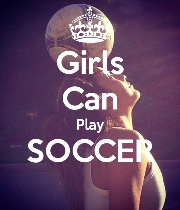 Girls Can Play Girls Can Play SOCCER Poster Jenny Keep CalmoMatic