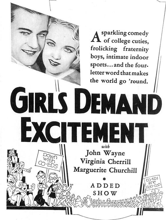 Girls Demand Excitement Girls Demand Excitement Movie Posters From Movie Poster Shop