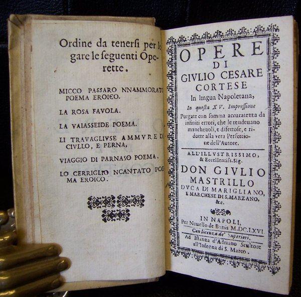 Giulio Cesare Cortese Opere di giulio cesare cortese in lingua napoletana bound with i
