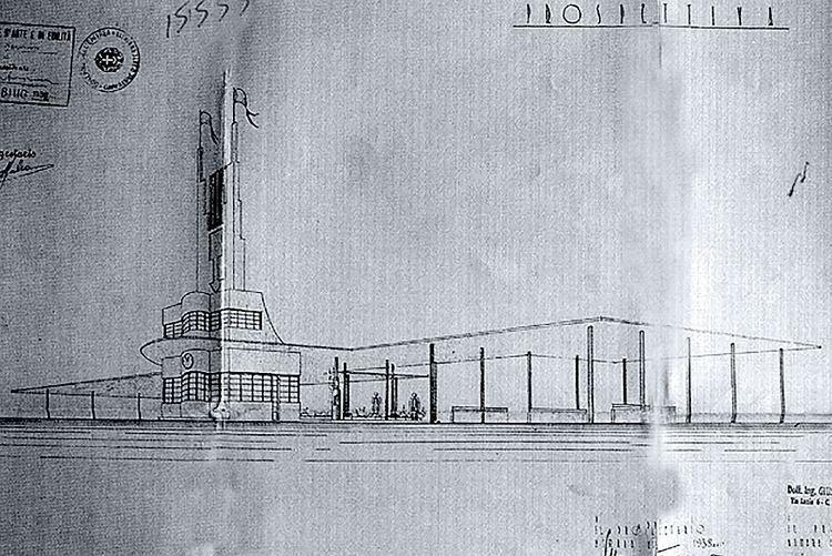 Giuseppe Pettazzi Datum Antique Giuseppe Pettazzis Fiat Tagliero Building