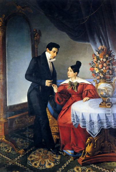 Giuseppe Tominz The Engaged Couple reproduction by Giuseppe Tominz