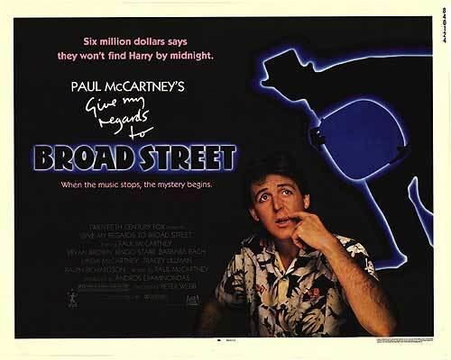 Give My Regards to Broad Street (film) Give My Regards To Broad Street movie posters at movie poster