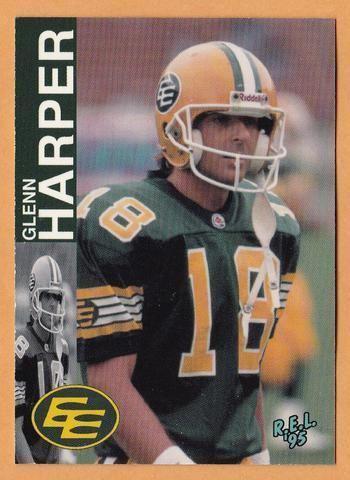 Glenn Harper Glenn Harper CFL card 1995 REL 25 Edmonton Eskimos Washington State