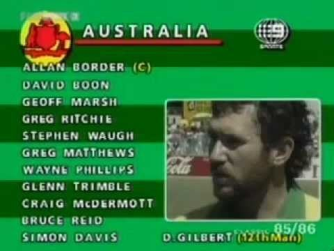 Glenn Trimble (Cricketer) in the past