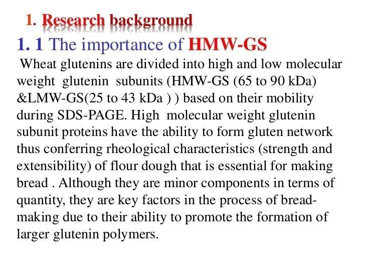 Glutenin High frequency of abnormal high molecular weight glutenin alleles in