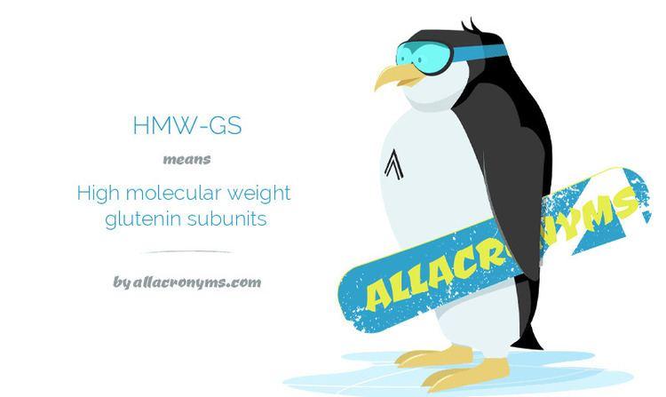 Glutenin HMWGS abbreviation stands for High molecular weight glutenin subunits