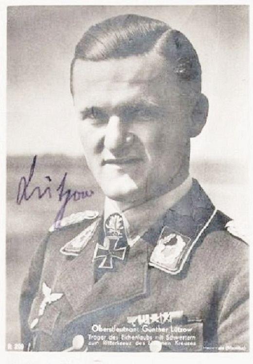 Günther Lützow CC 02 PILOT COLONEL GNTHER LTZOW KIA RKT WITH OAKS amp SWORDS