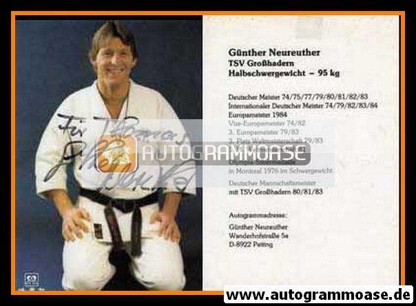 Günther Neureuther Autogramm Ringen Gnther NEUREUTHER 1980er TSV Grosshadern