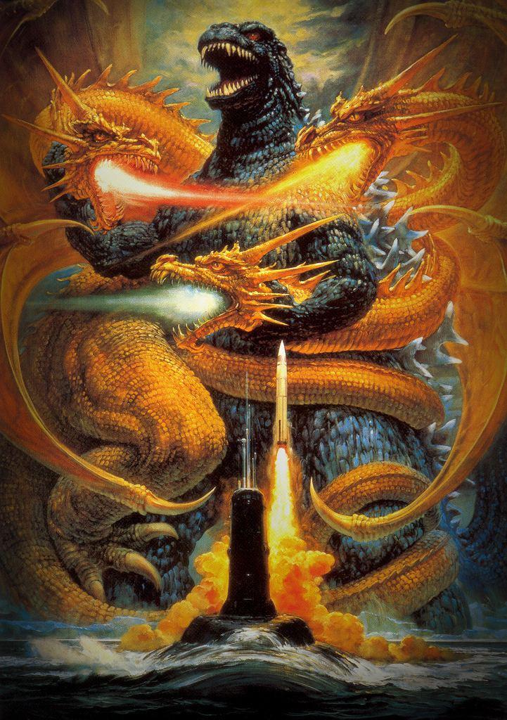 Godzilla vs. King Ghidorah Godzilla vs King Ghidorah Toho 1991 monsterbrainsblogs Flickr
