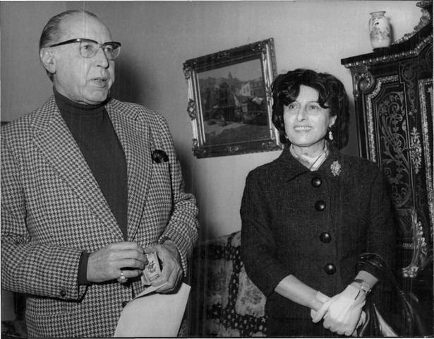 Goffredo Alessandrini Anna Magnani con il marito Goffredo Alessandrini sposato nel 1935 e