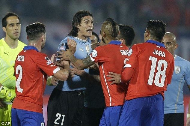 Gonzalo Jara Gonzalo Jara is banned from the rest of the Copa America and fined
