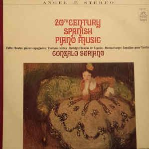 Gonzalo Soriano Gonzalo Soriano 20th Century Spanish Music Piano Music Vinyl LP