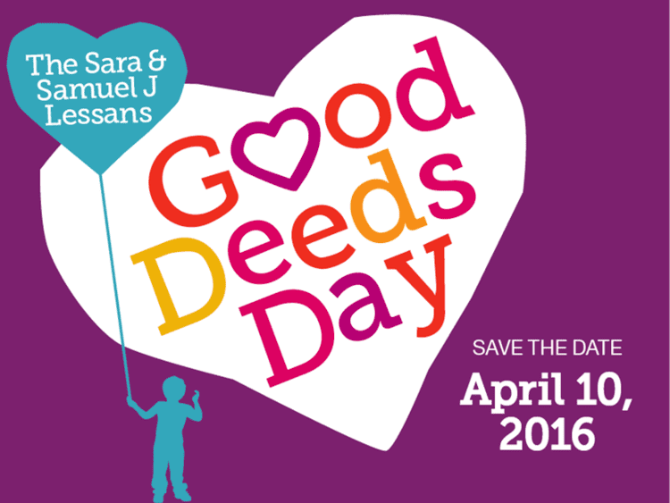 Good Deeds Day Save the Date Good Deeds Day 2016 Jewish Federation of Greater