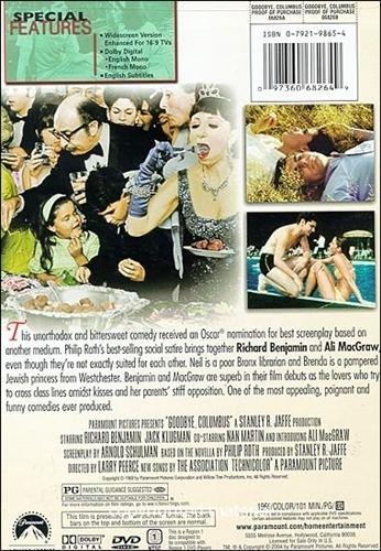 Goodbye, Columbus (film) Goodbye Columbus DVD 1969 Richard Benjamin 699 BUY NOW RareDVDsBiz