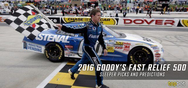 Goody's Fast Relief 500 2016 Goody39s Fast Relief 500 Sleeper Picks and Predictions
