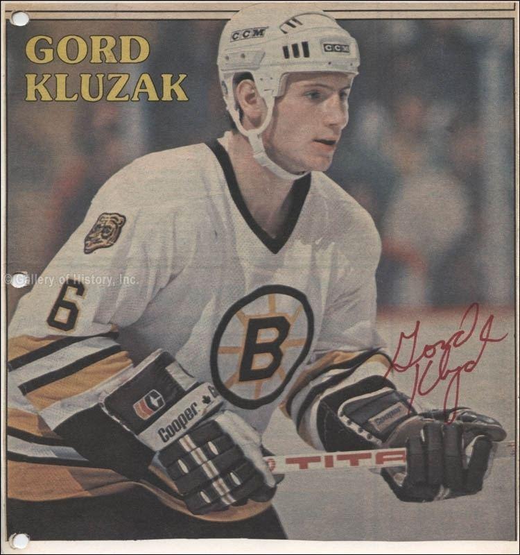 Gord Kluzak Gordon Gord Kluzak Newspaper Photograph Signed Autographs