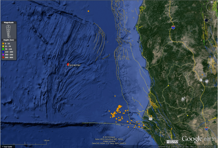 Gorda Plate earthjaycomearthquakes20140313M5gorda2014031