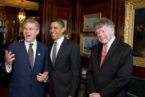 Gordon Getty Obama at the Getty Manse SFLUXE