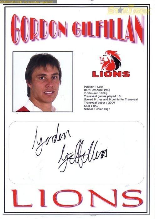 Gordon Gilfillan Gordon Gilfillan autograph collection entry at StarTiger