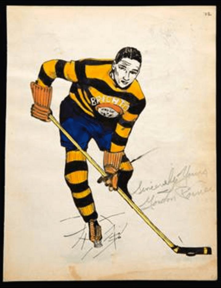Gordon Poirier Original Hockey Art of Gordon Poirier Brighton Tigers 1937 HockeyGods