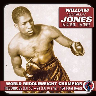 Gorilla Jones Willliam Gorilla Jones Wins vacant world middleweight title