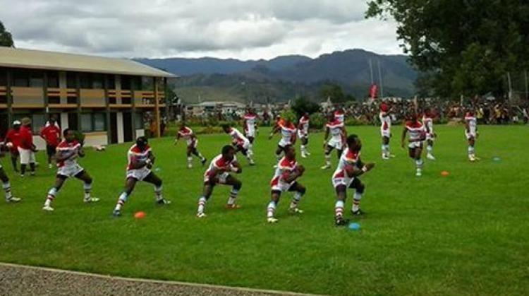 Goroka Lahanis Mioks prepare to face Lahanis Loop PNG