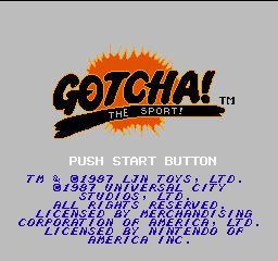 Gotcha! The Sport! Gotcha The Sport USA ROM lt NES ROMs Emuparadise