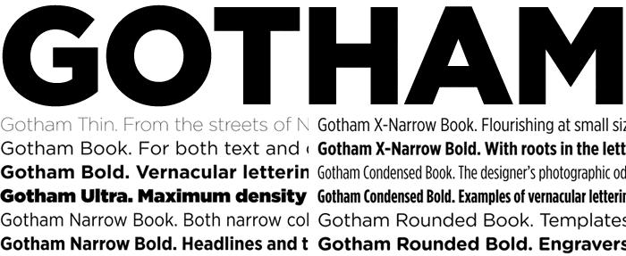 Gotham (typeface) Know your type Gotham idsgn a design blog