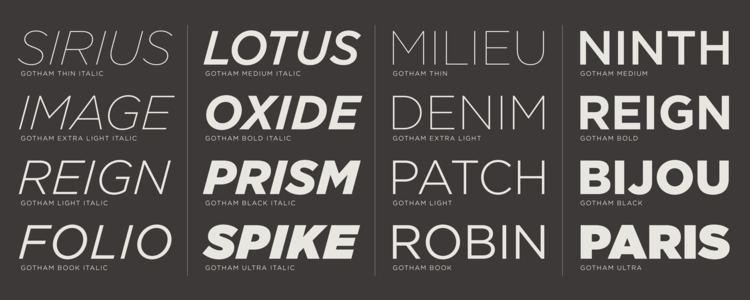 Gotham (typeface) What39s Inside Gotham Fonts Hoefler amp Co