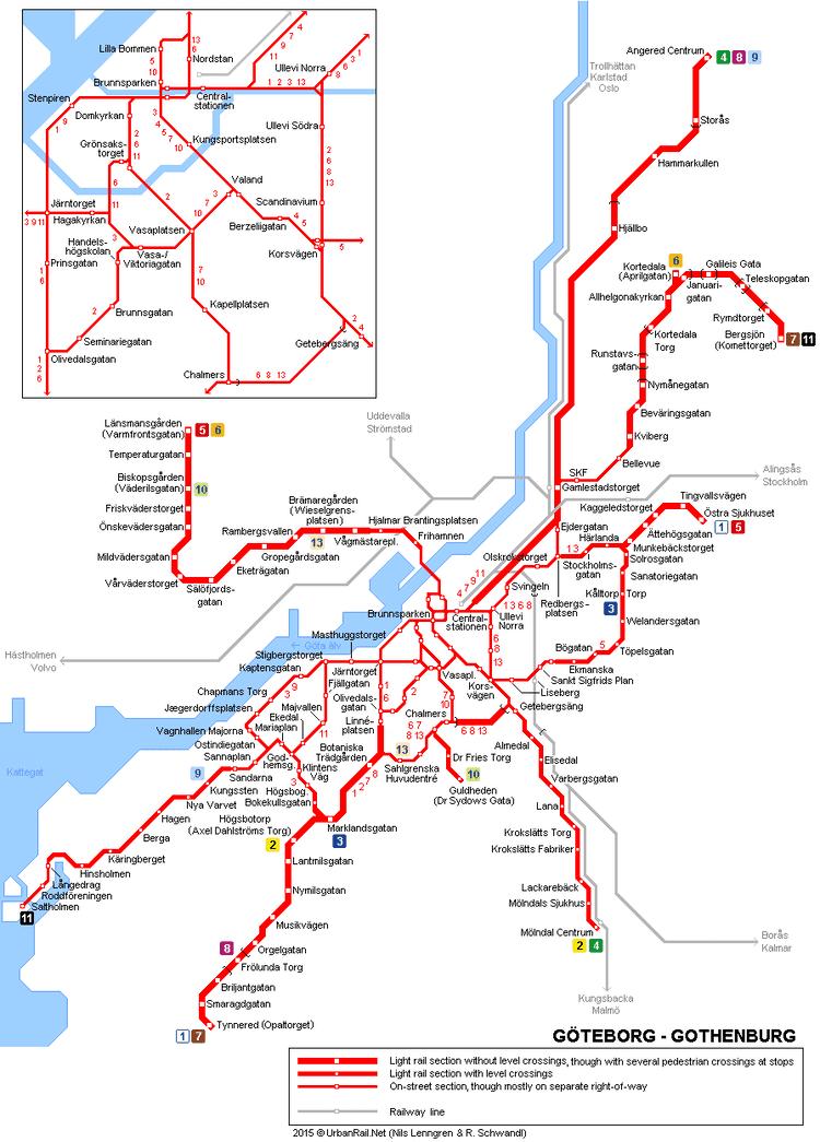 Gothenburg tram network UrbanRailNet gt Europe gt Swedengt GTEBORG Tram System
