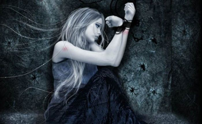 Gothic & Lolita Psycho movie scenes Gothic Painting