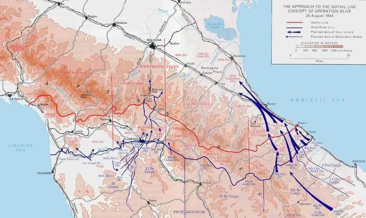 Gothic Line Maps Main Menu
