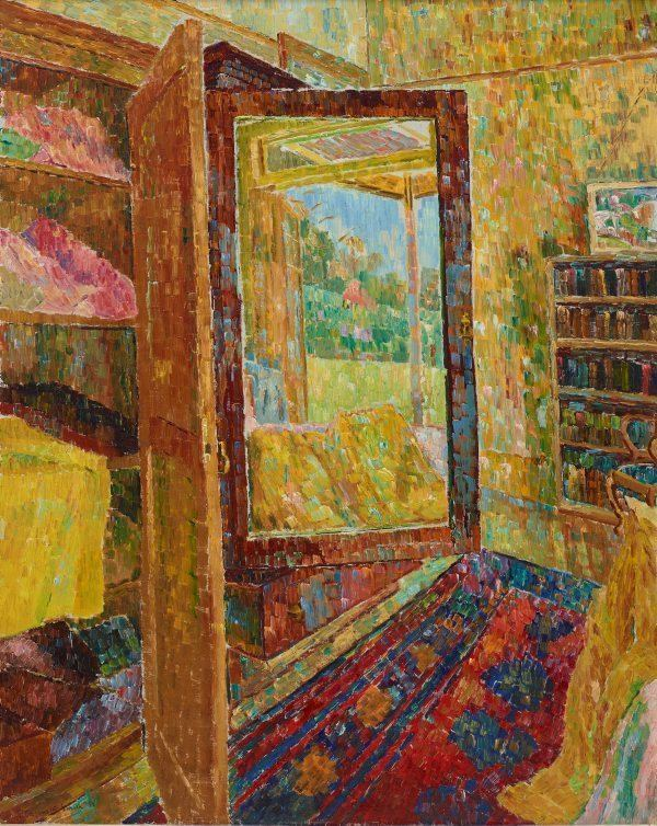 Grace Cossington Smith Interior with wardrobe mirror 1955 by Grace Cossington
